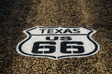 Sign for US 66 in Texas