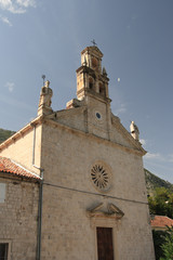 A small old Catholic Church in Montenegro.