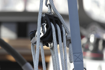 winch sail boat detail