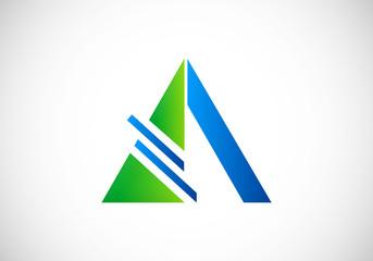 triangle construction abstract vector logo
