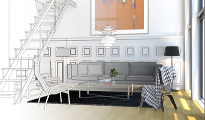 Downstairs Apartment (drawing)