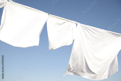 linens drying on rope - 71156384