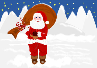 Babbo Natale col sacco