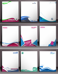 Nine Business Style Corporate Identity Leterhead Template.