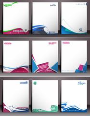 Nine Business Style Corporate Identity Leterhead Template.
