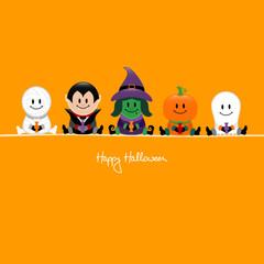 Halloween Mummy, Vampire, Witch, Pumpkin & Ghost