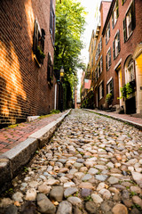 Acorn street in Boston in Massachusettes