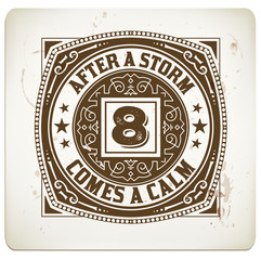 Retro stamp. Coffee drops details. Elements organized by layers.