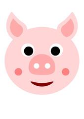 Cochon souriant vu de face