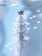 Decorative white Christmas tree
