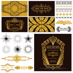 ART DECO OR GATSBY Party Set - for Wedding, Party Decoration