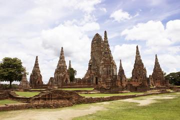 Chaiwatthan temple at Ayutthaya Province