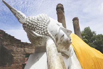 Reclining Buddha of Yai Chaimongkol temple at Ayutthaya Province
