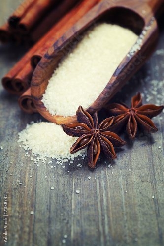 canvas print picture spices and brown sugar