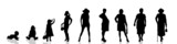 Fototapety Vector silhouette of people.