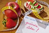 Fototapety Guter Vorsatz zur Gesunden Ernährung