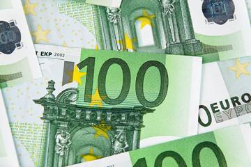 Viele Euro Geldscheine