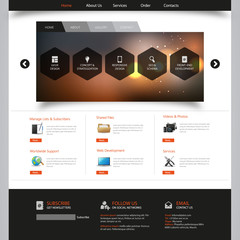 Corporate Website Template - eps10 Vector Design