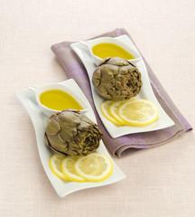 artichoke sauce and lemon