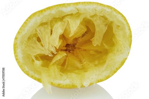 canvas print picture ausgepresste Zitrone