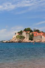 Resort island of Sveti Stefan in Montenegro