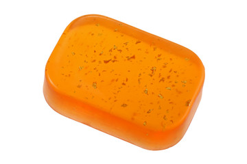A bar of Glycerin Bar Soap with gold flakes