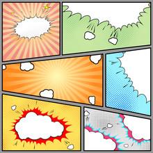 Page style bande dessinée pop-art vintage background