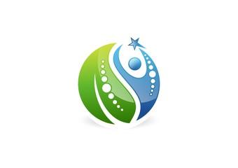 nutrition,people,leaf,logo,wellness,nature,health,bio,plant