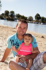 Papa et sa petite fille