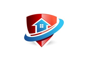 house,shield,logo,protection,emblem,home,safety,finance,loop