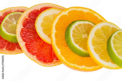 canvas print picture Orangenscheiben
