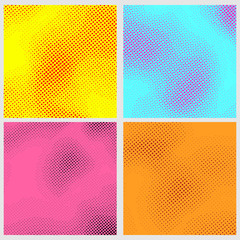 Pop-art style dotted backgrounds collection