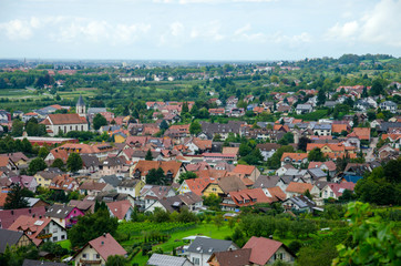View over Offenburg, Germany