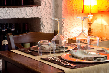 restaurant detail with table for two