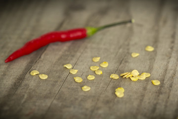Seeds and chilli pepper