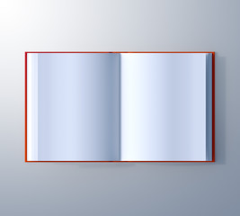 top view open book