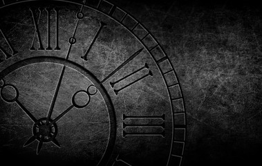 Abstract Pattern Background and clock on Brick Wall