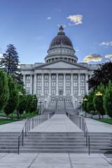 Utah state capital building main enterence