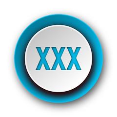 xxx blue modern web icon on white background