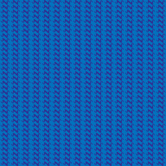 Blue knitted pattern. Vector illustration