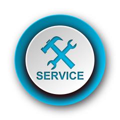 service blue modern web icon on white background