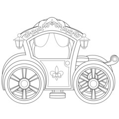Carriage Coloring Book Page