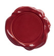 Leinwanddruck Bild - red wax seal isolated with clipping path included