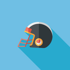 american football helmet flat icon with long shadow,eps10