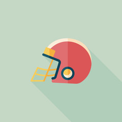 american football helmet flat icon with long shadow,eps10