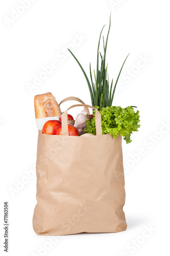 Foto op Aluminium Keuken Paper bag with food