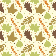 Autumn theme seamless pattern