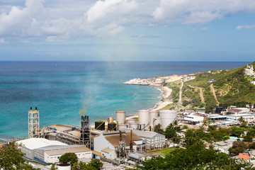 Commercial Sugar Factory in St Martin