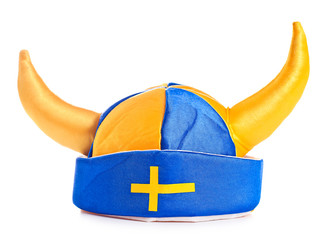 swedish hat , isolated on white