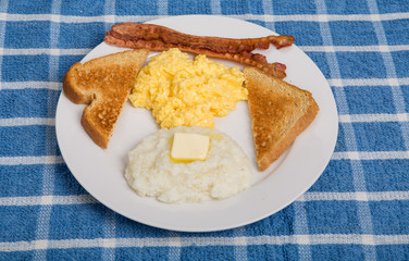 Traditional Breakfast with Grits